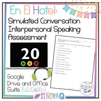 Las vacaciones: Simulated Conversation Speaking Test (Scri