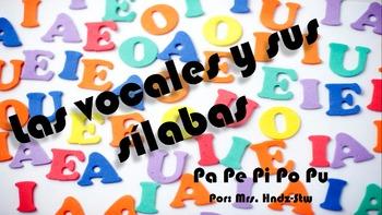Las vocales y las silabas Pa Pe Pi Po Pu