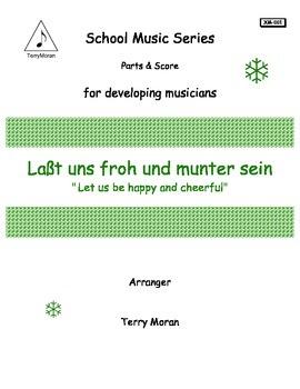 """(Laßt) Lasst uns froh und munter sein (""""Let us be happy an"""