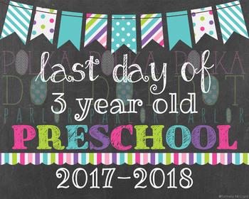 Last Day of 3 Year Old Preschool - 2016-2017 School Year -