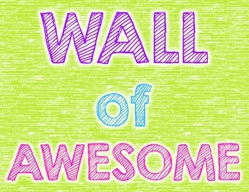 Wall of AWESOME 8.5 x 11 Poster