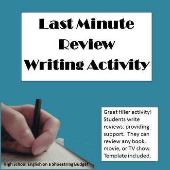 Last Minute Review Activity (Great Filler for Last Minutes