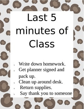 Last Minutes of Class