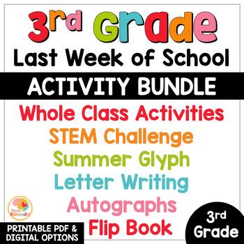 Last Week of School Activities for 3rd Grade