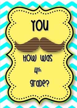 Last day of school 4th grade Mustache Memory book
