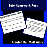Late Homework Pass