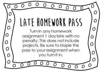 Late Homework Pass