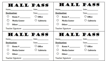 Late Passes Business Card Format