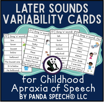 Later Sounds Vowel/Syllable Variability Cards for Childhoo