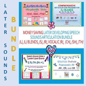 Later Speech Sounds Bundle:/CH/, /L/ & /L/ Blends, /R/, /S