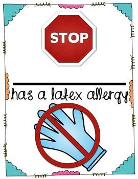 Latex Allergy Sign