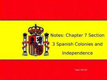 Latin America colonies and Independence Movements