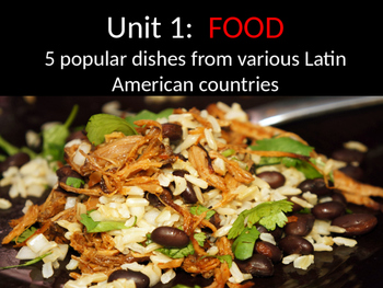 Latin American Cultural Foods Power Point