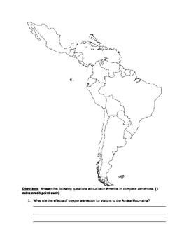 Latin American Geography Assignment