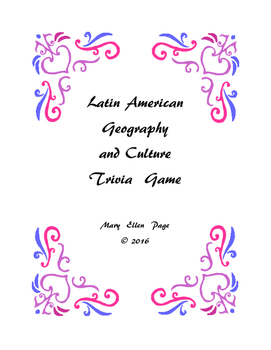 Latin American Geography and Culture Trivia Game