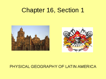 Latin American Geography and History Powerpoint - Journey