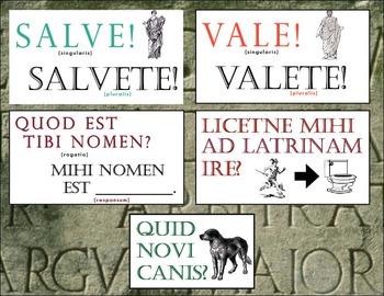 Latin Classroom Phrases - Poster Set