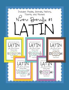 Latin Noun Bundle #1 - 5 packs of puzzles in one bundle
