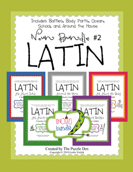 Latin Noun Bundle #2 - 5 puzzle packs in one bundle