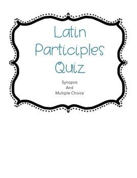 Latin Participles Quiz