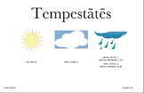 Latin Posters: Qualis tempestās est? Weather Expressions (