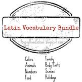 Latin Vocabulary Bundle - Flashcards & Memory Games