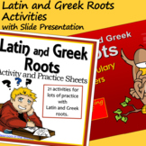Latin and Greek Roots Activity Sheets