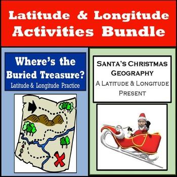 Latitude & Longitude Activities Bundle - Christmas Geogrpa