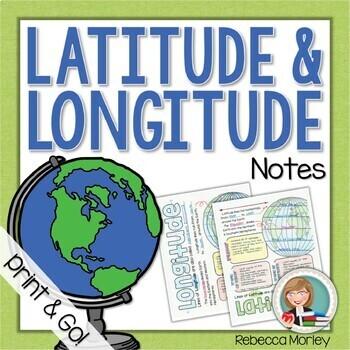 Latitude and Longitude Doodle Notes