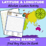 "Latitude and Longitude ""Word Search"""