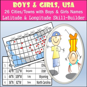 Latitude and Longitude Activity - Boys and Girls, USA - 26
