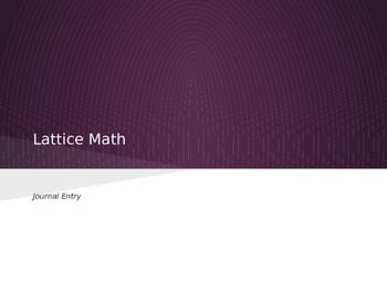 Lattice Math (Multiplication)