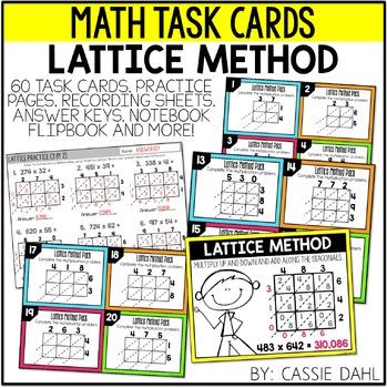 Lattice Method Task Cards