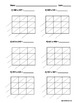 Lattice Multiplication 3 Digit by 3 Digit - 10 Pages