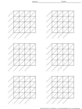 Lattice Multiplication: Blank Practice Sheet 4-digit by 4-