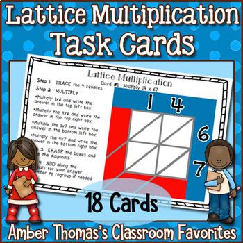 Lattice Multiplication Task Cards