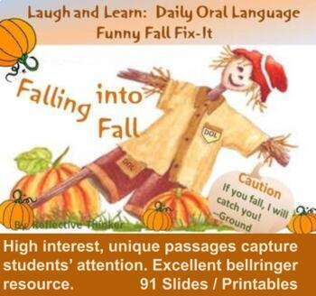 Laugh and Learn:  Fall Themed Daily Oral Language Funny Fix-It