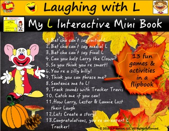 Laughing with L Interactive Flip Book: 13 Games & Activiti
