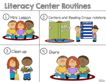 Launching Literacy Centers-FREEBIE Anchor Charts