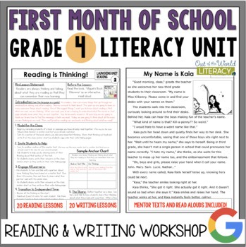 Launching the Reader's & Writer's Workshops: Grade 4...40
