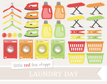 Laundry Clipart; Cleaning