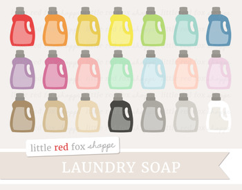 Laundry Soap Clipart; Cleaning