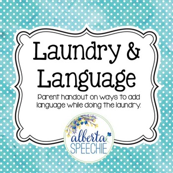 Laundry and Language: Using laundry to help foster languag