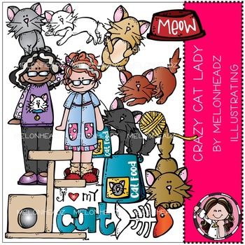 Laura's Crazy Cat lady by Melonheadz COMBO PACK