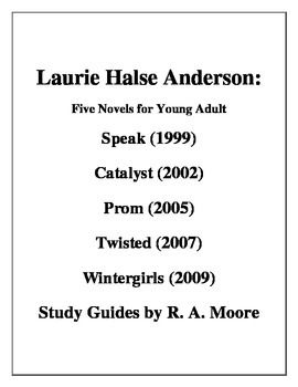 """""""Speak"""" etc.  Novels for Young Adults -Laurie Halse Anders"""