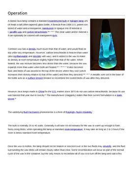 Lava Lamp Lab