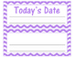 Lavender Chevron Classroom Decor Set