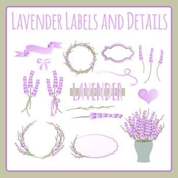 Lavender Labels and Details Clip Art Pack for Commercial Use