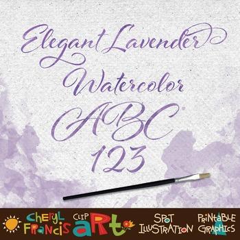 Lavender Watercolor Alphabet