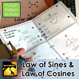 Law of Sines & Law of Cosines - Punch Pattern Activities